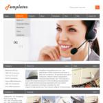 通讯设备公司网站(英文)模板