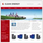 绿色能源设备网站(英文)模板