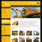 机械设备网站(英文)模板