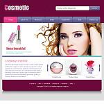 化妆品公司网站(英文)模板